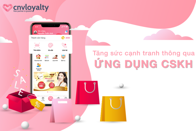 CNV Loyalty cung cấp giải pháp giúp doanh nghiệp chăm sóc khách hàng qua ứng dụng.