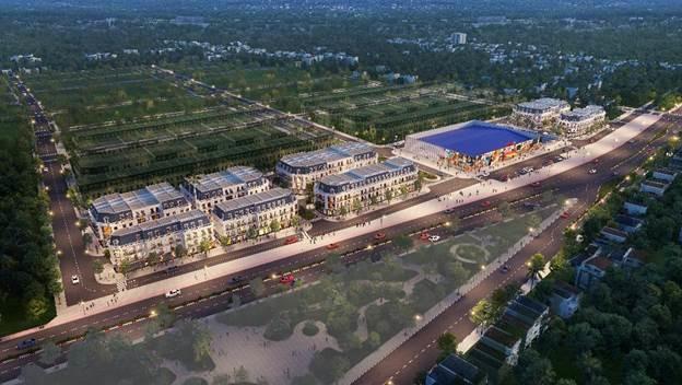 Quy hoạch tổng thể khu trung tâm thương mại Vincom Uông Bí.