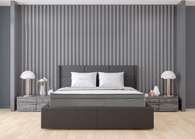 Nệm lò xo túi Cocoon Grey Luxe giúp tận hưởng trọn vẹn giấc ngủ êm sâu. Ảnh: Liên Á.