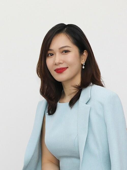 Bà Trần Thu Hương - Giám đốc Chiến lược và Phát triển kinh doanh kiêm Giám đốc Khối Ngân hàng bán lẻ VIB. Ảnh: Quỳnh Trần.