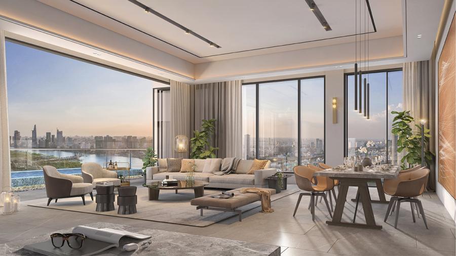 Trải nghiệm khác biệt tại penthouse ven sông Sài Gòn