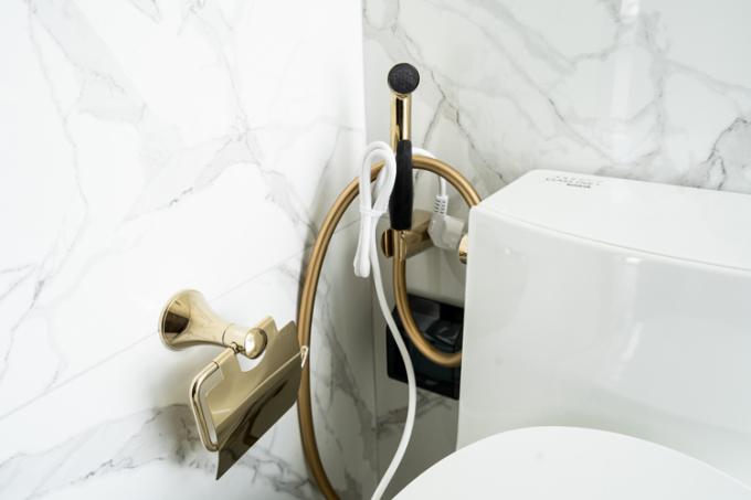 Các thiết bị vệ sinh được mạ vàng