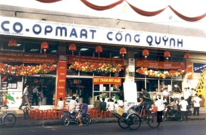 Co.opmart Cống Quỳnh ra đời năm 1996, là siêu thị đầu tiên và hiện cũng nằm trong top 10 về doanh thu của Co.opmart. Ảnh tư liệu: Siêu thị cung cấp.