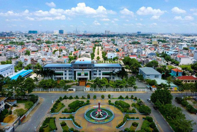 Một góc thành phố Thuận An, Bình Dương. Ảnh: Quốc Chiến.