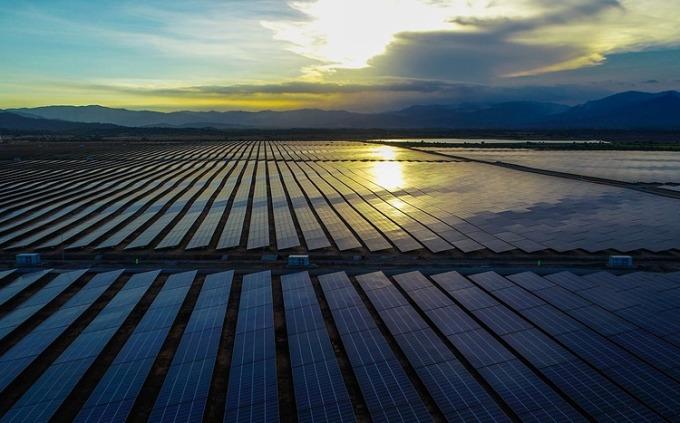 Một dự án điện mặt trời mặt đất tại Ninh Thuận. Ảnh: Quỳnh Trần