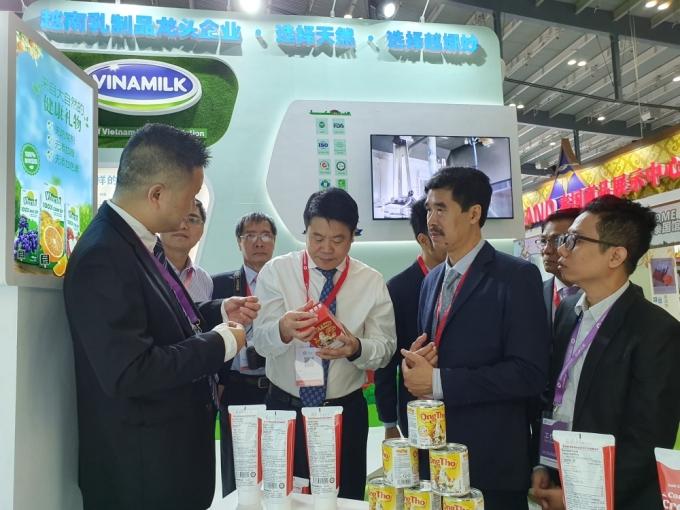 Năm 2019, Vinamilk tạo ấn tượng tốt khi ra mắt thương hiệu tại Triển lãm Quốc tế về Thực phẩm và Dịch vụ ăn uống diễn ra tại Hồ Nam, Trung Quốc. Ảnh: Lam Anh