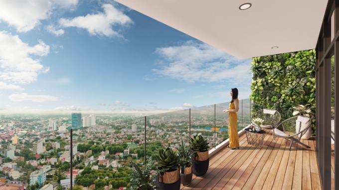 Tầm nhìn từ căn hộ tại dự án C-Sky View.