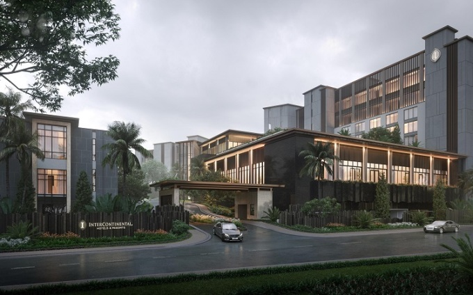 Phối cảnh dự án InterContinental Residences Halong Bay