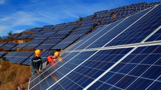 Dự án điện mặt trời Hồ Núi Một của Trường Thành Group. Ảnh: Truongthanhgroup.