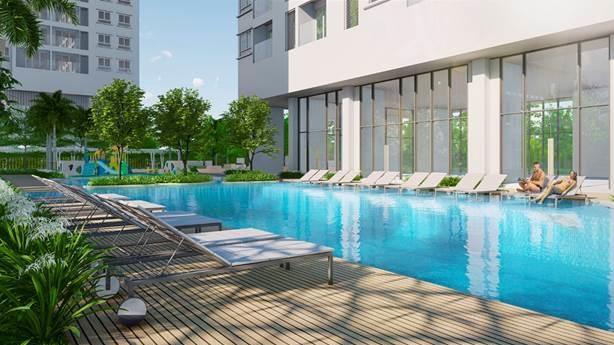 Bể bơi tại C-Sky View.