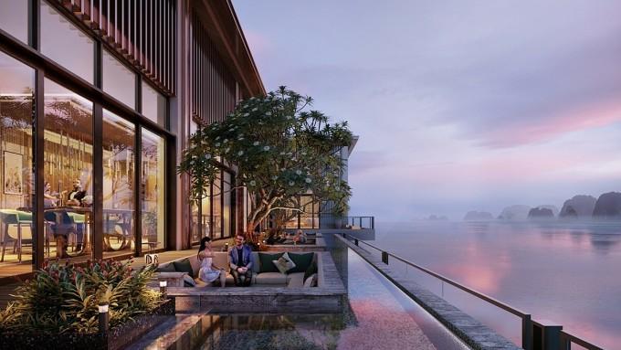 Dự án nhận đánh giá cao về thiết kế khi lấy cảm hứng từ nét đẹp thiên nhiên trên vùng đất di sản Vịnh Hạ Long. Ảnh phối cảnh: BIM Group.