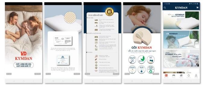 Giao diện app Kymdan Store hiển thị đầy đủ thông tin, tình trạng đơn hàng cho khách hàng tiện lợi theo dõi.