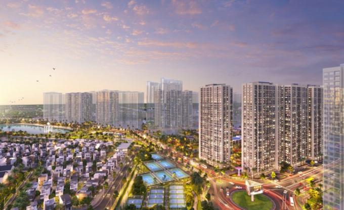Phối cảnh đô thị đô thị Vinhomes Smart City.