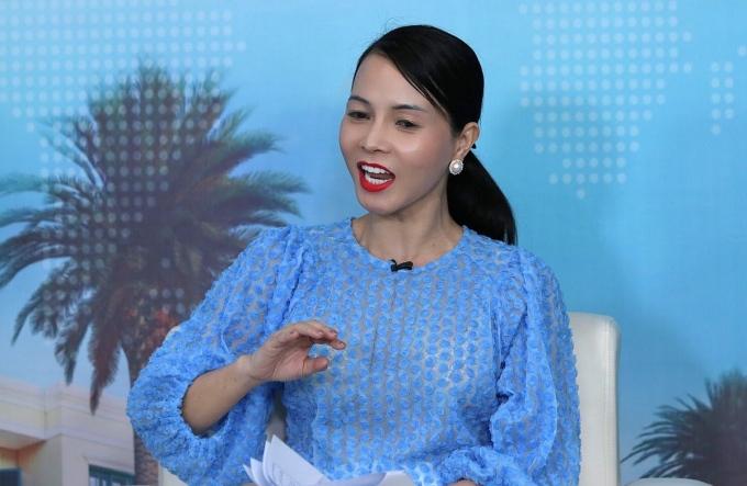 Bà Bùi Kim Thùy - Đại diện tại Việt Nam của Hội đồng Kinh doanh Mỹ - ASEAN (USABC) khuyến nghị nhà đầu tư chọn chủ đầu tư uy tín, sản phẩm được phát triển tử tế, pháp lý hoàn thiện. Ảnh: Ngọc Thành.