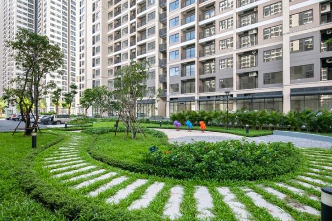 Khuôn viên xanh trong dự án