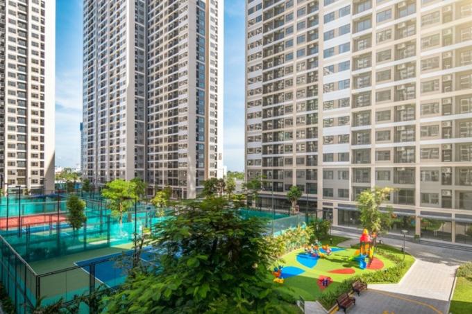Công viên thể thao trong dự án Vinhomes Smart City.
