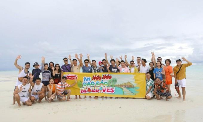 Tập thể công ty Acecook khám phá đảo Maldives năm 2019. Ảnh: Acecook Việt Nam.