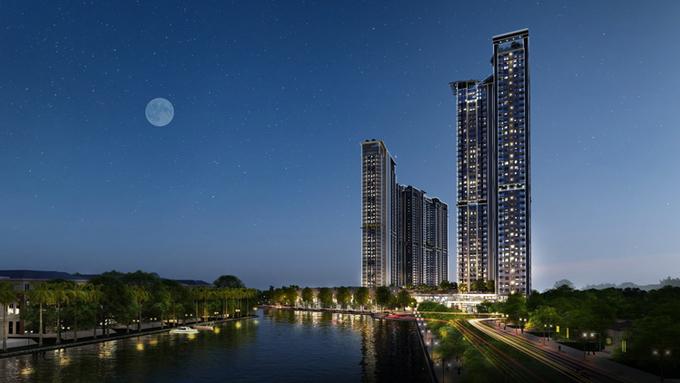 Tòa tháp căn hộ S- Premium theo tiêu chuẩn 5 sao đầu tiên của Ecopark.