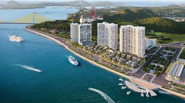 Phối cảnh dự án căn hộ nghỉ dưỡng Best Western Premier Sapphire Ha Long dự kiến vận hành khai thác từ đầu năm 2021
