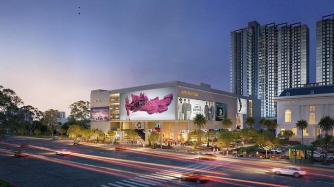 Phối cảnh tiện ích trung tâm thương mại tại dự án Mipec Rubik360.