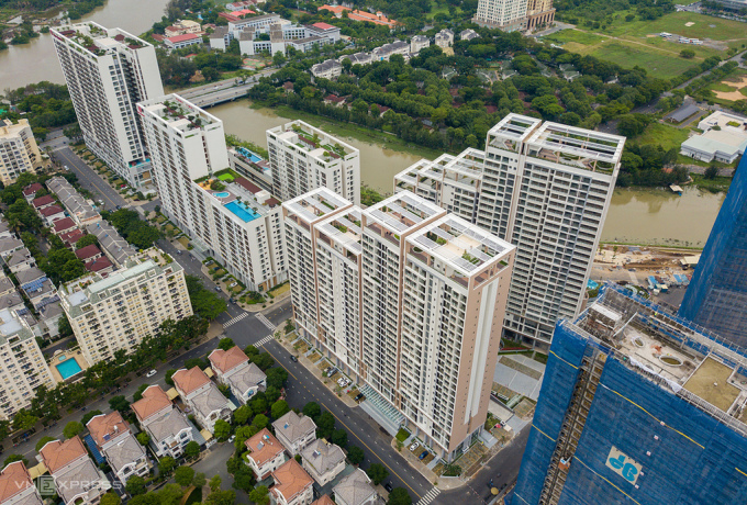 Thị trường bất động sản phía Nam TP HCM. Ảnh: Trần Quỳnh.