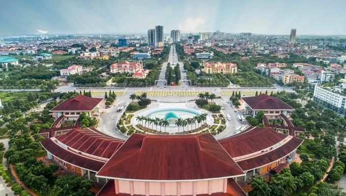 Trung tâm thành phố Bắc Ninh. Ảnh: Lưu Hải.