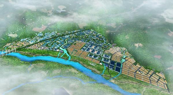 Dự án Khu công nghiệp - đô thị và dịch vụ Becamex VSIP Bình Định. Ảnh phối cảnh: Becamex.