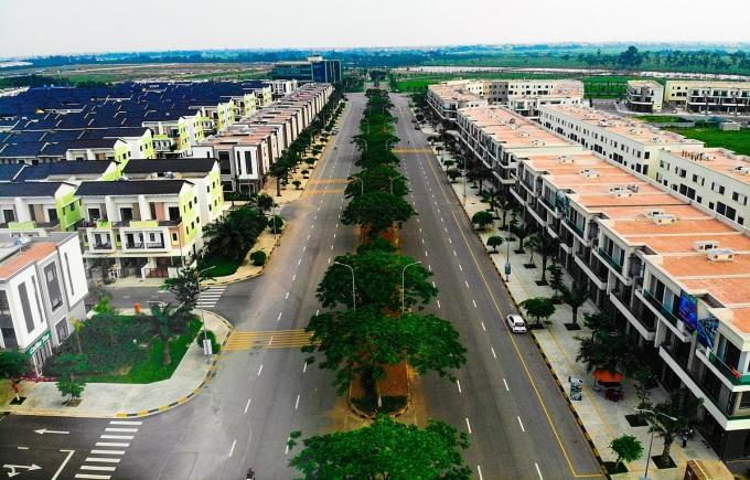 Một góc khu đô thị được quy hoạch bài bản tại Từ Sơn - Bắc Ninh. Ảnh: Nhật Trường.