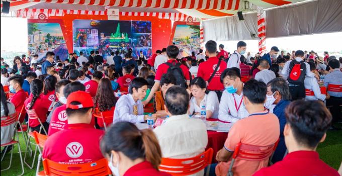 Cát Tường Western Pearl thu hút hàng nghìn lượt tham quan dự án và tham gia sự kiện mở bán tập trung hàng tuần tại Vị Thanh.