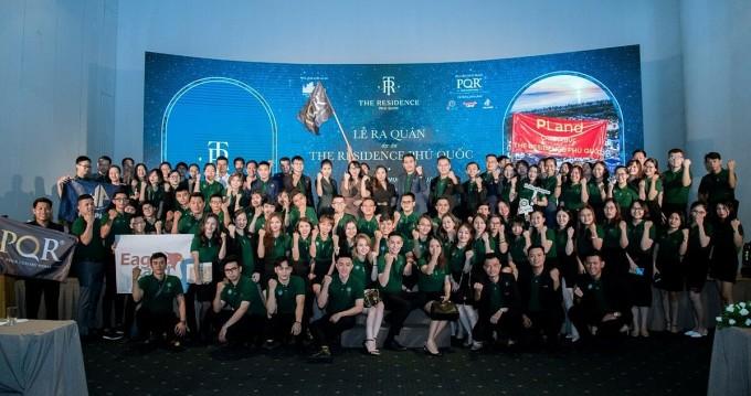 Lễ ra quân dự án The Residence Phú Quốc có sự tham gia của hơn 150 nhân viên bán hàng đến từ các đại lý phân phối của HTĐT Corp.