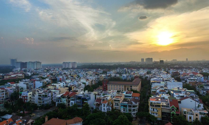 Thị trường địa ốc phía Nam TP HCM. Ảnh: Lucas Nguyễn.