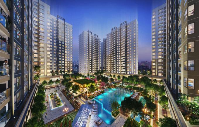 Trong đợt mở bán cuối cùng, chủ đầu tư cũng tung ra nhiều ưu đãi cho người mua nhà. Khách mua căn hộ trên 97m2 nhận chiết khấu 2% trừ trực tiếp vào hợp đồng mua bán. Ảnh phối cảnh tổng thể dự án.