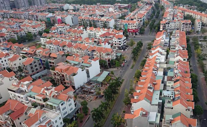 Thị trường nhà phố phía Nam TP HCM. Ảnh: Vũ Lê.