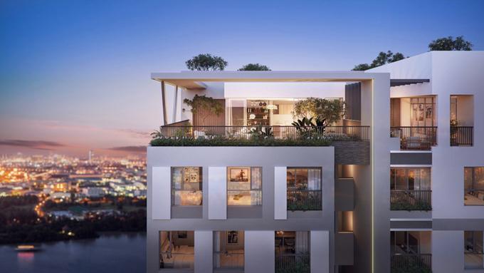 Không gian sống xanh trong căn hộ Happy One - Premier.