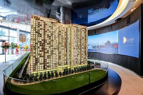 Sa bàn được thiết kế tinh xảo, mô tả rõ nét toàn khu dự án. Ảnh: Masterise Homes.