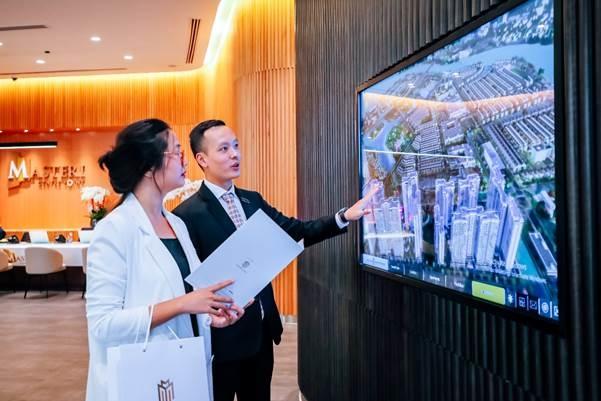 Khu nhà mẫu tích hợp công nghệ hiện đại giúp quan khách hình dung rõ nét cuộc sống tương lai. Ảnh: Masterise Homes.