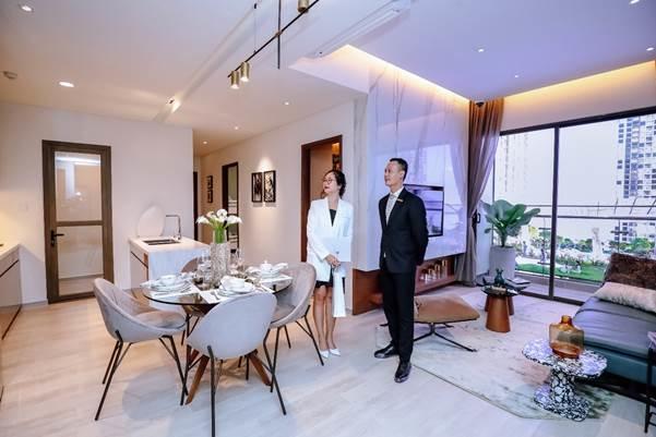 Căn hộ mẫu thiết kế và sử dụng nội thất cao cấp. Ảnh: Masterise Homes.
