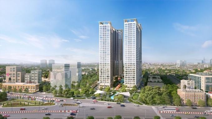 Phối cảnh dự án Anderson Park tại giao điểm mũi tàu Nguyễn Thị Minh Khai và đại lộ Bình Dương.