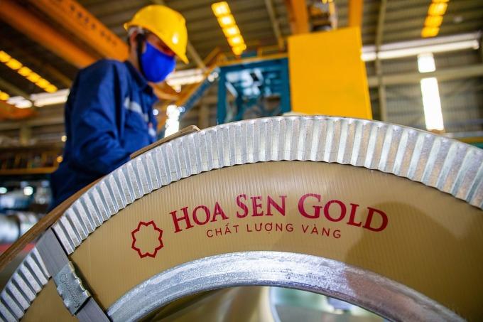 Hoa Sen ra mắt dòng sản phẩm tôn cao cấp mới hồi tháng 2. Ảnh: Tập đoàn Hoa Sen.