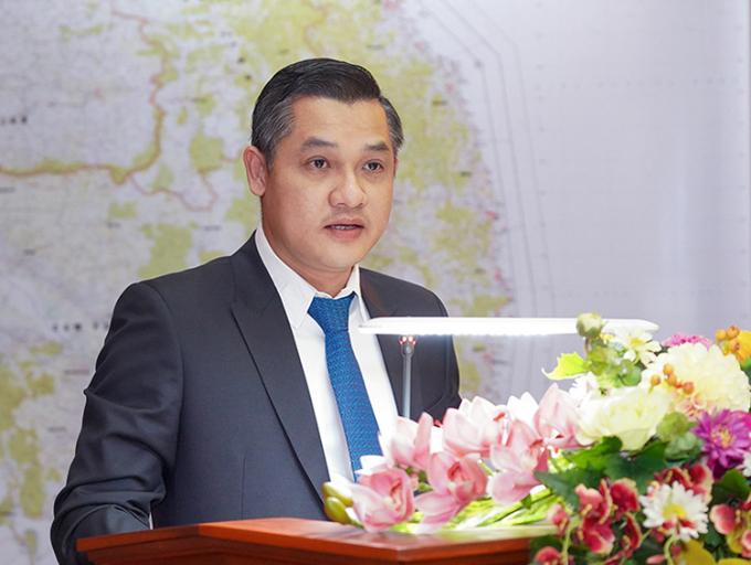 Ông Nguyễn Văn Cường, Phó chủ tịch Tập đoàn Hưng Thịnh chia sẻ doanh nghiệp luôn đồng hành cùng cả nước chiến đấu, chiến thắng dịch bệnh. Ảnh: Thắng Nguyễn.