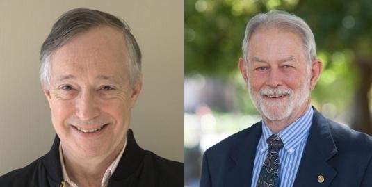Paul R.Milgrom (trái) và Robert B.Wilson. Ảnh: Stanford University