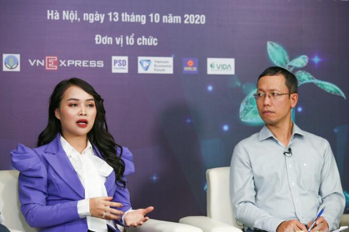 Bà Nguyễn Thị Diễm Hằng và Triệu Thành Nam.
