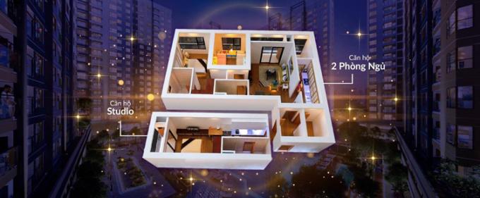 Thiết kế sáng tạo của Dual Key giúp cho chủ nhân chỉ cần mua một nhưng sở hữu được 2 căn hộ.