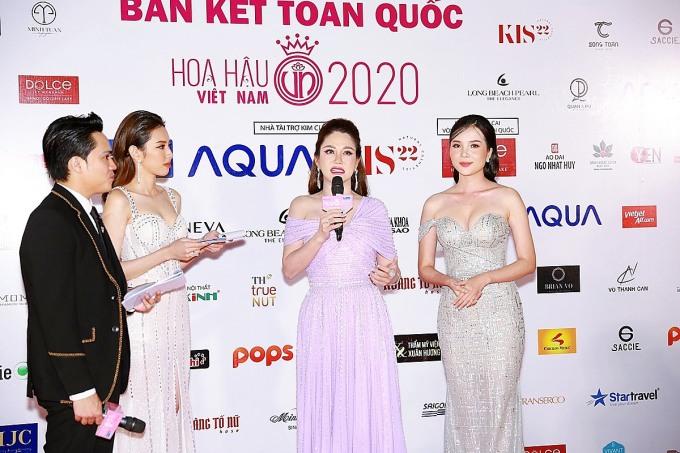 Cố vấn sắc đẹp Xuân Hương chia sẻ các hoạt động mà TMV Xuân Hương đồng hành cùng Hoa hậu Việt Nam 2020 - Ảnh: Mạnh Toàn
