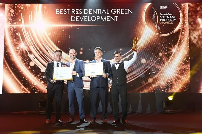 Giải thưởng Vietnam Property Awards là sự ghi nhận của cộng đồng chuyên gia quốc tế đối với chất lượng The Habitat Bình Dương. Ảnh: VSIP-Sembcorp Gateway.