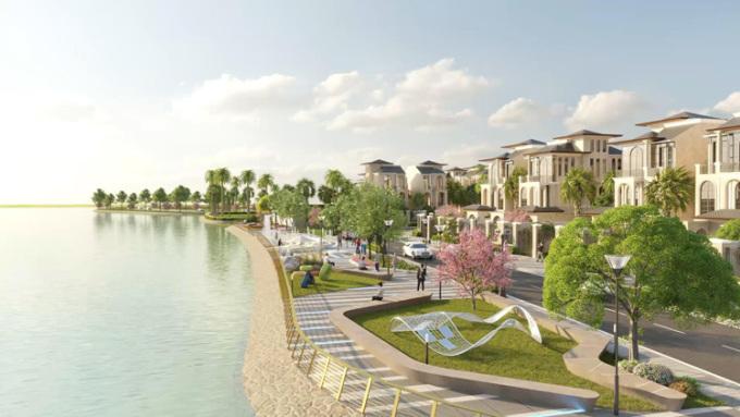 Dự án hội tụ đầy đủ những tiện ích như trung tâm thương mại, sân thể thao, clubhouse, công viên ven sông...