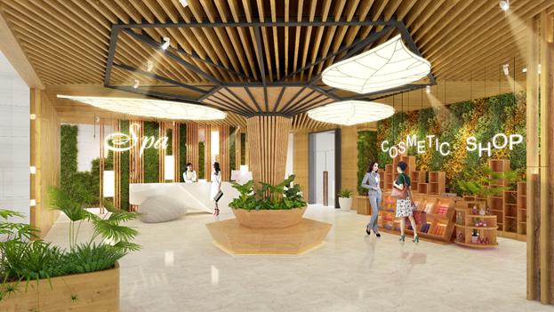 Wyndham Grand Flamingo Cat Ba Resort sẽ là trung tâm nghỉ dưỡng, vui chơi, giải trí đẳng cấp 5 sao mặt tiền biển sôi động.  Ảnh: Flamingo Holding Group.
