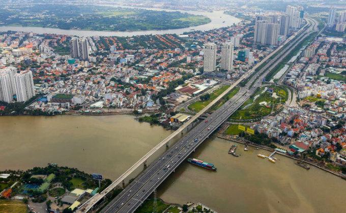 Thị trường nhà chung cư dọc theo tuyến Metro đầu tiên của TP HCM. Ảnh: Quỳnh Trần.