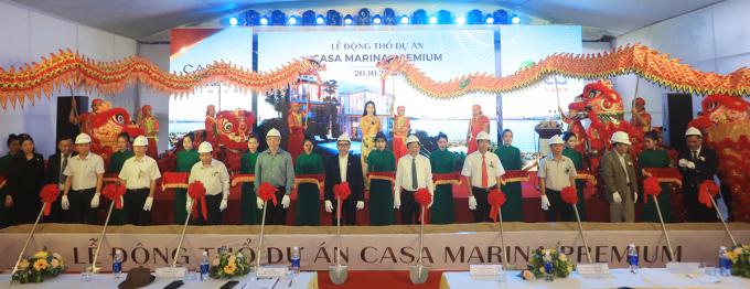 Lễ động thổ dự án Casa Marina Premium Quy Nhơn vào sáng 20/10. Ảnh: BCG Land.