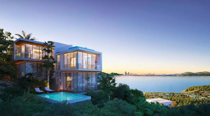 Biệt thự Casa Marina Premium Quy Nhơn mang phong cách lưng tựa núi, mặt hướng biển. Ảnh phối cảnh: BCG Land.